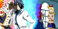 Erza and Gray Join Team Natsu