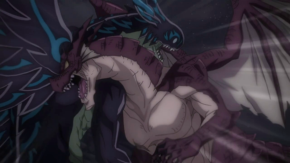 Image - Igneel crashes into Acnologia.png | Fairy Tail Wiki ...