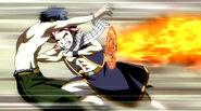 Gray attacked by Natsu