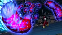 Erza negates Jellal's attack
