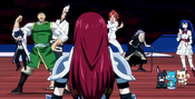 Everyone except Erza is influenced by Real Nightmare