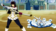 Yukino defeated by Kagura