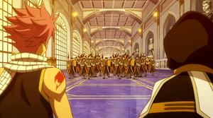Encountering Fiore's army