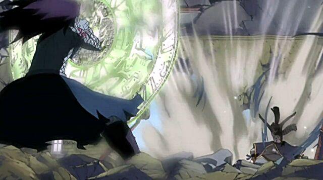 File:Natsu deflects Gajeel's breath attack.jpg