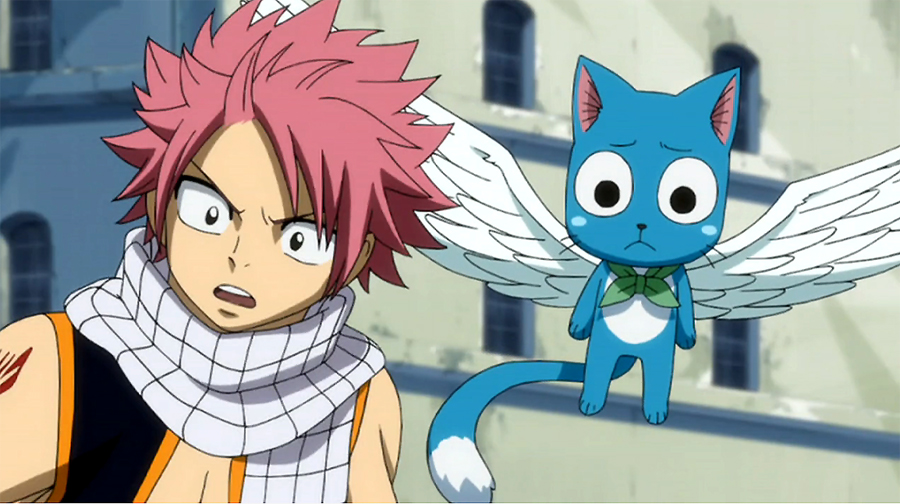 Image happy and natsu saw lucy fairy tail - Fairy tail happy and natsu ...