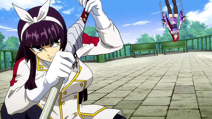 Tail Of The Dragon Photos >> Image - Kagura attacks Erza.png | Fairy Tail Wiki | Fandom ...