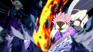 Natsu try to punch Zalty