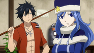 Gray and Juvia at the billiard