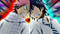 Natsu and Gray begin to argue
