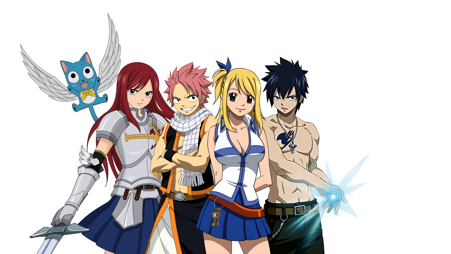 Image - Happy erza natsu lucy gray.png | Fairy Tail ...