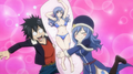 Juvia Presents Her Body Pillow to Gray
