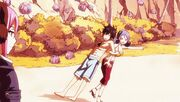 Juvia Grabs Gray's Arm