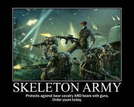 Skeleton-army