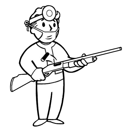 Shotgun surgeon fallout wiki fandom powered by wikia for Shotgun coloring pages