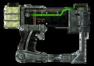 Laser pistol focus recycler