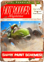Hot rodder shark cover