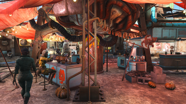 File:Diamond City market centre Halloween style FO4.png