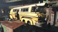 Fo4 School Bus Diamond City Schoolhouse