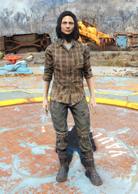 Fo4Flannel Shirt and Jeans