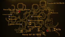 Puesta del Sol North map