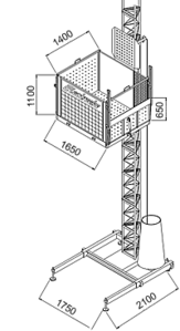 VB DD14 loc Equipment Lift and Main Access Elevator 1