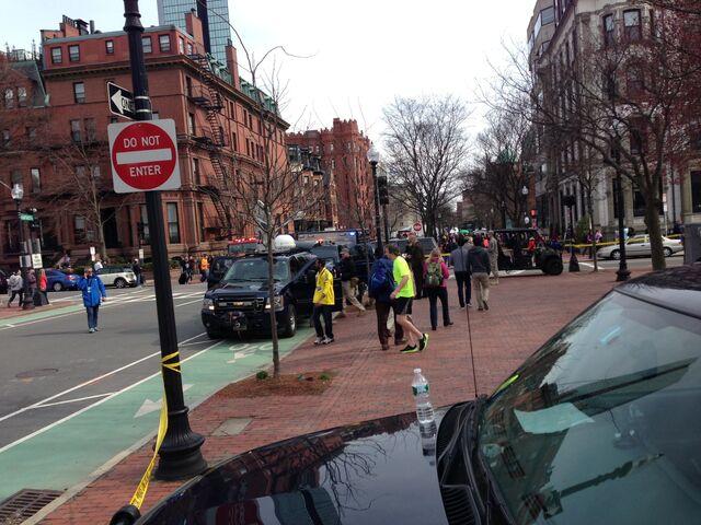 File:Hazmat biohazard team at Boston Marathon near the finish line 03.jpeg