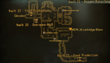 Vault 22 oxygen recycling map