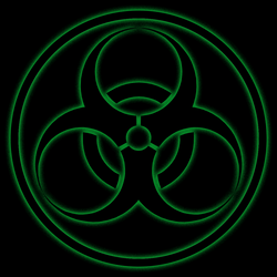 Biohazard Symbol PNG2A- Circle Added