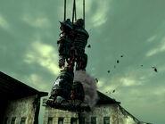 Liberty Prime hoist crash
