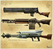 PV13 rifles concept art Cleveland jpg  237 KB Dieselpunk Weapons