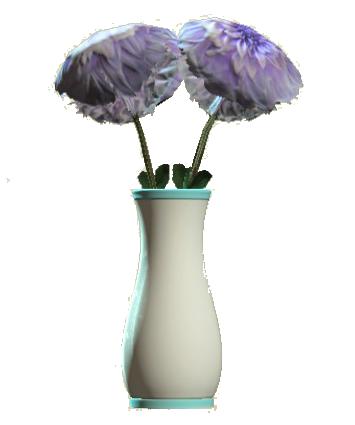 File:Glass flared teal vase.png