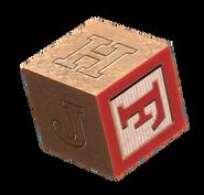 Wooden block F