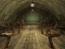 Nellis schoolhouse interior