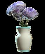 Glass vaulted teal vase