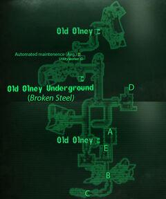 Olney sewers loc map