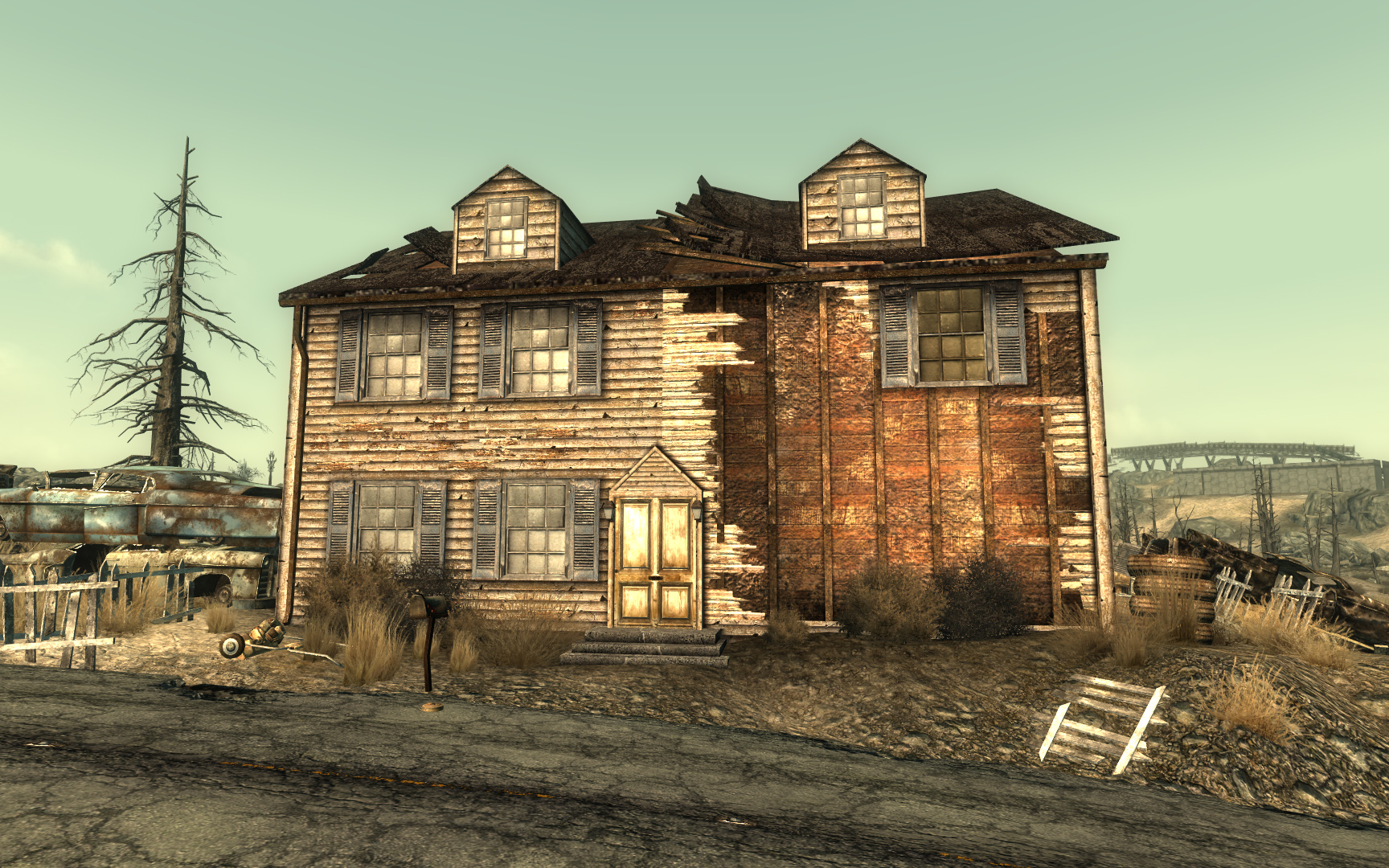 Model house in minefield fallout 3