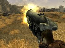 127mm pistol back shot