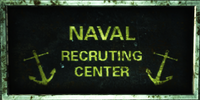 FO3PL naval recruiting center sign