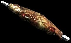 Iguana on a stick