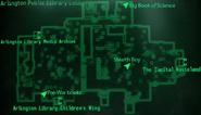 Arlington Library lobby map