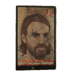 Fo4 signed baseball card
