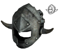 Metal helmet reinforced