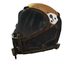 Brown flight helmet
