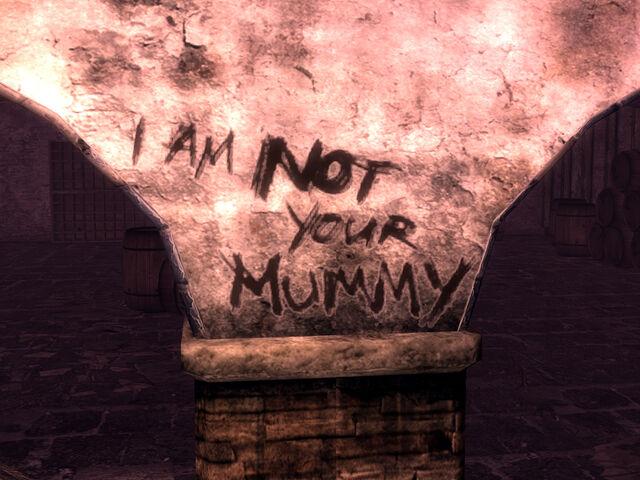 File:I am not your mummy graffiti.jpg