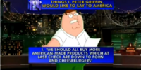 The Top Ten Things I, Peter Griffin, Would Like to Say to America
