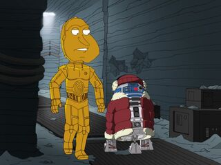 Quagmire as C3PO