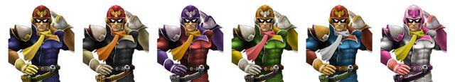 File:Captain Falcon Colors.jpg