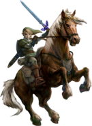 TPHD Link and Epona Artwork