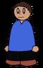 Shirt Blue V Neck Generic