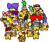 All Koopalings Sprites